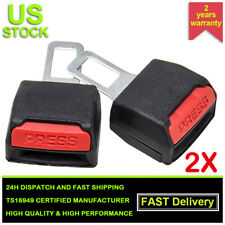 2pcs Universal Auto Car Safety Seat Belt Buckle Extension Extender Clip Black