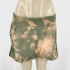 Hard Tail Forever Women Mini Tie Dye Bubble Skirt Sz L AD01
