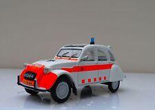 """2CV CITROEN """" POLITIE """" DUTCH POLICE DIECAST ELIGOR CAR 1/43 2 CV AUTO PLUS 16"""