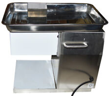 110V Stainless Commercial Meat Slicer with 3mm Blade