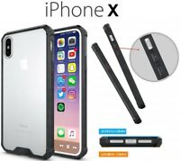 Ragetorc Fusion Bumper Gel Case With Clear Rear Panel For Apple Iphone X -BLACK