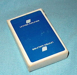 Factory Sealed Cards! Vintage UNITED AIRLINES Playing Cards Bridge Size Deck