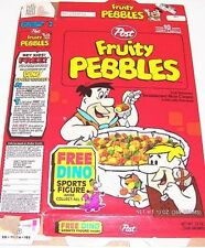 1992 Fruity Pebbles Cereal Box ee073