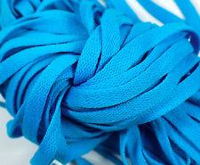 "New! 1 Pair Set Light Blue Shoelaces Shoe Strings Lace Sneakers Flat 47"" Long"