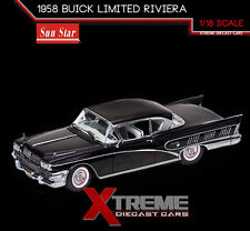 SUNSTAR SS-4805 1:18 1958 BUICK LIMITED RIVIERA COUPE BLACK PLATINUM SERIES