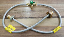 Gas Pigtail Hose and Changeover Valve Kit for Caravan and House Braided Hose