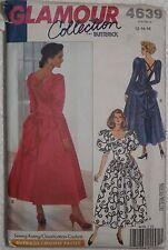 Butterick 4639 Sewing Pattern Misses' 1990's Party Dresses Size 12 14 16 Uncut