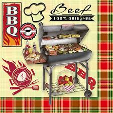 "200 Premium Servietten 3-lagig 1/4-Falz 33 cm ""BBQ Season"" Party"