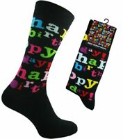 """New Men's Quality Colourful Bright """"Happy Birthday"""" Novelty Design Ankle Socks"""