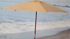 Outdoor 9 FT Brown Tan Wooden Market Umbrella New