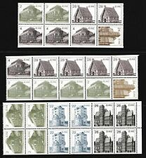 Ireland 1982 - 1986 Architecture - Three MNH Booklet Stamps - (138)