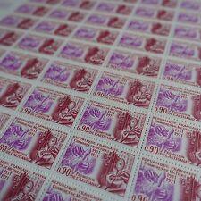 FEUILLE SHEET TIMBRE CHAMBRE DES MÉTIERS N°1691 x50 1971 NEUF ** LUXE MNH
