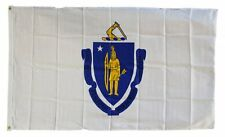 Massachusetts State Flag 3 x 5 Foot Flag - New 3x5 Indoor Or Outdoor-lower price