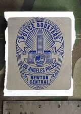 LAPD Police Boosters Stickers,  Style A Large, Style B Small.