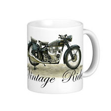 VINTAGE 1951 VELOCETTE MAC  350cc   MOTOR BIKE   QUALITY 11oz  WHITE MUG