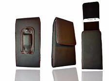 NUEVO Cinturón Soporte TAPA MAGNÉTICA FUNDA de cuero para teléfono móvil