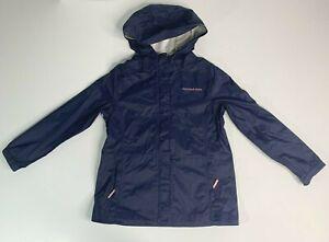 Vineyard Vines Navy Blue Girls Hooded Rain Jacket Size Medium 10-12