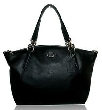 Coach F28993 Leather Small Kelsey Satchel Purse Handbag Black