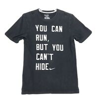 Nike Tee T-Shirt Mens Size M Medium Faded Black Short Sleeve Cotton