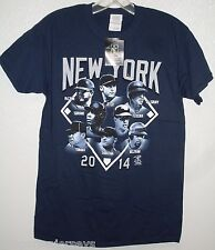 NWT MLB  ADULT T SHIRT - NEW YORK YANKEES ROSTER 2014 SIZE XXL