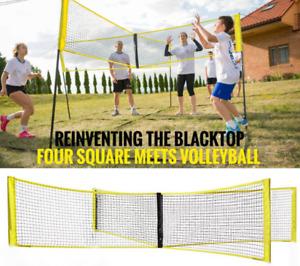 Cross Shaped Volleyball Net Outdoor Team Sporting Goods New 1 Set