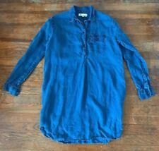 79e8721bc6 Madewell XS Chambray Linen Shirt Dress Long Sleeve