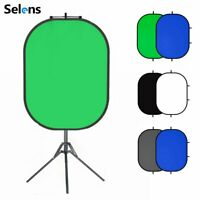 Studio Backdrop Cloth Screen + Magnetic Reflector Holder + Foldable Light Stand