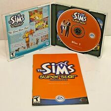 Sims SUPERSTAR 2-Disc Expansion Pack Windows PC Simulation Game (2003) EA Games