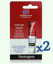 2 x Intense Repair Lip Balm NEUTROGENA For Dry Cracked Lips 2x15ml
