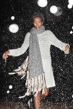 New Anthropologie Eyelash Sweater Dress by Sleeping On Snow sz S Small Ivory