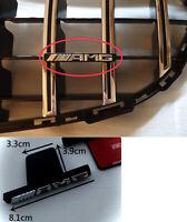 AMG Badge Emblem Chrome Black For Mercedes-Benz Panamericana Grille Radiator