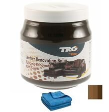 TRG GRISON DARK BROWN LEATHER DYE COLOUR RESTORER RESTORATION CREAM BALM