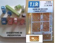 2 PLANCHES DE CARTONS D'EMBALLAGE POUR PIECES SCANIA, ACCESSOIRES DIORAMA 1/24