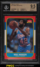 1986 Fleer Basketball Mike Woodson #129 BGS 9.5 GEM MINT