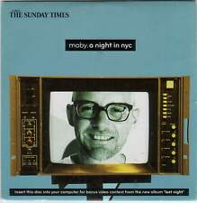 MOBY - A NIGHT IN NYC - 13 TRACK PROMO CD (2008) WITH BONUS VIDEO CONTENT