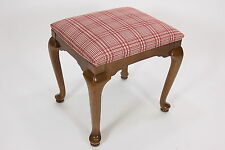 Ethan Allen 1994 Upholstered Padded Bench Stool Seat 20-7440 Traditional