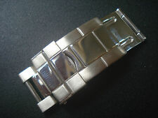 POLISHED CENTER FLIP-LOCK CLASP FOR MENS ROLEX 20MM OYSTER WATCH BAND BRACELET