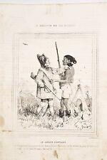 CARICATUREE de BEAUMONT La Civilisation aux Iles Marquises 7 Chasseur