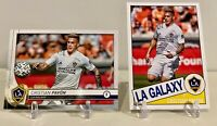 Cristian Pavon (2) Card Lot - 2020 Topps MLS Base & Throwback LA Galaxy