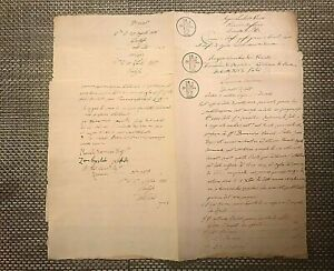 *ANTIQUE Original MANUSCRIPT 1817-1818 LOMBARDY-VENICE~3 docs#01076