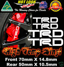 TRD HIGH TEMP BRAKE CALIPER Stickers Decals X4 to suit TOYOTA type brakes JDM
