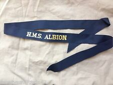 Original British Royal Navy HMS Albion Cap Tally - Genuine Issue