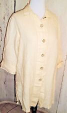 Womens Vtg Coconut Cove New Old Stock Linen Jacket beach cover Up Made USA Sz M