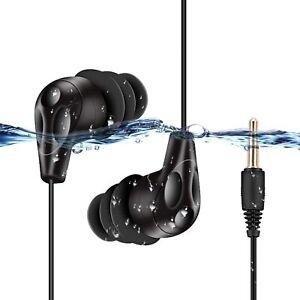 AGPTEK Waterproof Headphones Sports Earphones In-Ear Headset Swimming Earbuds