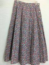 New listing Laura Ashley Vintage Skirt Pleated Boho Peasant Gypsy Blue Pink Yellow Floral 12