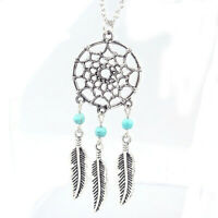 Retro Women Lady Dream Catcher Pendant Long Chain Necklace Sweater Jewelry  A2J3