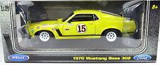 Ford Mustang Boss 302 Baujahr 1970 gelb #15 Maßstab 1:18