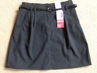 BNWT M&S Black Belted School Skirt 13-14 Years