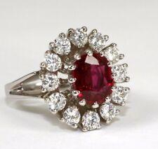 Juwelen-Ring in 750 Weissgold, wunderschöner klarer Rubin 1,80 Ct. und Brillant