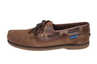 Quayside Clipper Oak/Chestnut Unisex Leather & Non Slip Sailing Deck Shoes